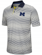 "Michigan Wolverines NCAA ""Number One"" Men's Performance Striped Polo Shirt"
