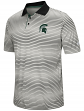 """Michigan State Spartans NCAA """"Number One"""" Men's Performance Striped Polo Shirt"""
