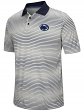 """Penn State Nittany Lions NCAA """"Number One"""" Men's Performance Striped Polo Shirt"""