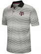 """Texas A&M Aggies NCAA """"Number One"""" Men's Performance Striped Polo Shirt"""