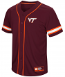 "Virginia Tech Hokies NCAA ""Play Ball"" Men's Button Up Baseball Jersey"