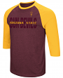 "Arizona State Sun Devils NCAA ""Steal Home"" Men's Dual Blend 3/4 Sleeve T-Shirt"