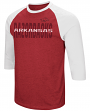 "Arkansas Razorbacks NCAA ""Steal Home"" Men's Dual Blend 3/4 Sleeve T-Shirt"