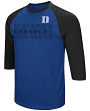 "Duke Blue Devils NCAA ""Steal Home"" Men's Dual Blend 3/4 Sleeve T-Shirt"