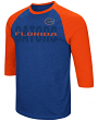 "Florida Gators NCAA ""Steal Home"" Men's Dual Blend 3/4 Sleeve T-Shirt"