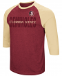 "Florida State Seminoles NCAA ""Steal Home"" Men's Dual Blend 3/4 Sleeve T-Shirt"