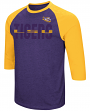 "LSU Tigers NCAA ""Steal Home"" Men's Dual Blend 3/4 Sleeve T-Shirt"
