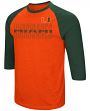 "Miami Hurricanes NCAA ""Steal Home"" Men's Dual Blend 3/4 Sleeve T-Shirt"