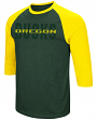 "Oregon Ducks NCAA ""Steal Home"" Men's Dual Blend 3/4 Sleeve T-Shirt"
