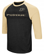 "Purdue Boilermakers NCAA ""Steal Home"" Men's Dual Blend 3/4 Sleeve T-Shirt"
