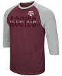 "Texas A&M Aggies NCAA ""Steal Home"" Men's Dual Blend 3/4 Sleeve T-Shirt"
