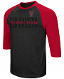 "Texas Tech Red Raiders NCAA ""Steal Home"" Men's Dual Blend 3/4 Sleeve T-Shirt"