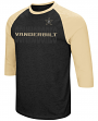 "Vanderbilt Commodores NCAA ""Steal Home"" Men's Dual Blend 3/4 Sleeve T-Shirt"