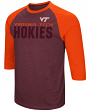 "Virginia Tech Hokies NCAA ""Steal Home"" Men's Dual Blend 3/4 Sleeve T-Shirt"