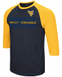 "West Virginia Mountaineers NCAA ""Steal Home"" Men's Dual Blend 3/4 Sleeve T-Shirt"