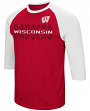 "Wisconsin Badgers NCAA ""Steal Home"" Men's Dual Blend 3/4 Sleeve T-Shirt"