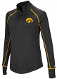 "Iowa Hawkeyes Women's NCAA ""Superstar"" 1/4 Zip Long Sleeve Wind Shirt"