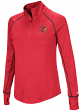 "Louisville Cardinals Women's NCAA ""Superstar"" 1/4 Zip Long Sleeve Wind Shirt"