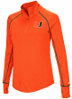 "Miami Hurricanes Women's NCAA ""Superstar"" 1/4 Zip Long Sleeve Wind Shirt"