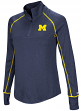 "Michigan Wolverines Women's NCAA ""Superstar"" 1/4 Zip Long Sleeve Wind Shirt"