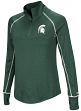 "Michigan State Spartans Women's NCAA ""Superstar"" 1/4 Zip Long Sleeve Wind Shirt"