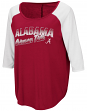 "Alabama Crimson Tide Women's NCAA ""Long Ball"" 3/4 Sleeve Dual Blend Shirt"