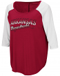 "Arkansas Razorbacks Women's NCAA ""Long Ball"" 3/4 Sleeve Dual Blend Shirt"