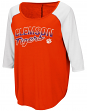 "Clemson Tigers Women's NCAA ""Long Ball"" 3/4 Sleeve Dual Blend Shirt"