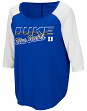 "Duke Blue Devils Women's NCAA ""Long Ball"" 3/4 Sleeve Dual Blend Shirt"