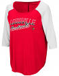 "Louisville Cardinals Women's NCAA ""Long Ball"" 3/4 Sleeve Dual Blend Shirt"
