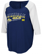 "Michigan Wolverines Women's NCAA ""Long Ball"" 3/4 Sleeve Dual Blend Shirt"