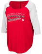 "Nebraska Cornhuskers Women's NCAA ""Long Ball"" 3/4 Sleeve Dual Blend Shirt"