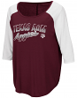 "Texas A&M Aggies Women's NCAA ""Long Ball"" 3/4 Sleeve Dual Blend Shirt"
