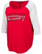"Wisconsin Badgers Women's NCAA ""Long Ball"" 3/4 Sleeve Dual Blend Shirt"