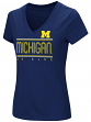 "Michigan Wolverines Women's NCAA ""Goodness"" Dual Blend Short Sleeve T-Shirt"