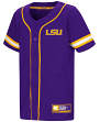 "LSU Tigers NCAA ""Play Ball"" Youth Button Up Baseball Jersey"
