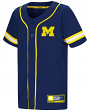 "Michigan Wolverines NCAA ""Play Ball"" Youth Button Up Baseball Jersey"