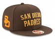 "San Diego Padres New Era 9FIFTY MLB Cooperstown ""Team Thread"" Snapback Hat"