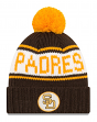 San Diego Padres New Era 9Twenty Cooperstown Retro Patch Cuffed Knit Hat - 1984