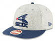 """Chicago White Sox New Era 9FIFTY MLB Cooperstown """"Melton Wool"""" Snapback Hat"""