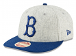 "Brooklyn Dodgers New Era 9FIFTY MLB Cooperstown ""Melton Wool"" Snapback Hat"