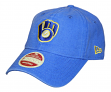 "Milwaukee Brewers New Era MLB 9Twenty Cooperstown ""Classic Wash"" Adjustable Hat"