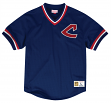 "Cleveland Indians Mitchell & Ness MLB Men's ""Team Win"" Mesh Jersey Shirt"