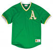 "Oakland Athletics Mitchell & Ness MLB Men's ""Team Win"" Mesh Jersey Shirt"