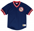"St. Louis Cardinals Mitchell & Ness MLB Men's ""Team Win"" Mesh Jersey Shirt"