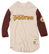 "San Diego Padres Mitchell & Ness MLB Men's ""Wild Pitch"" 3/4 Sleeve Premium Shirt"