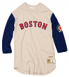 "Boston Red Sox Mitchell & Ness MLB Men's ""Wild Pitch"" 3/4 Sleeve Premium Shirt"