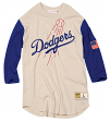 "Los Angeles Dodgers Mitchell & Ness Men's ""Wild Pitch"" 3/4 Sleeve Premium Shirt"