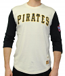 Pittsburgh Pirates Mitchell & Ness MLB Men's Wild Pitch 3/4 Sleeve Premium Shirt