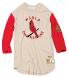 "St. Louis Cardinals Mitchell & Ness Men's ""Wild Pitch"" 3/4 Sleeve Premium Shirt"